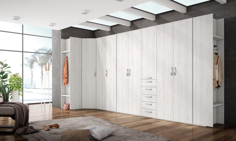 Armario grande en color blanco madera