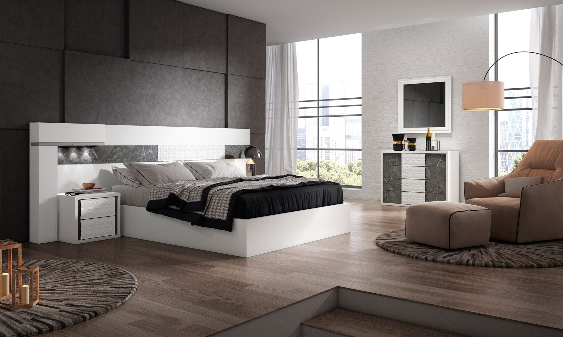 Dormitorios modernos archivos uni n fabricantes de tresillos for Tresillos modernos
