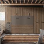 Armario-cama de madera