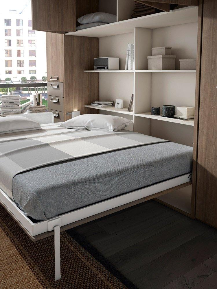 Armario-cama detalle abierto