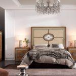 dormitorio de matrimonio con chapa de madera