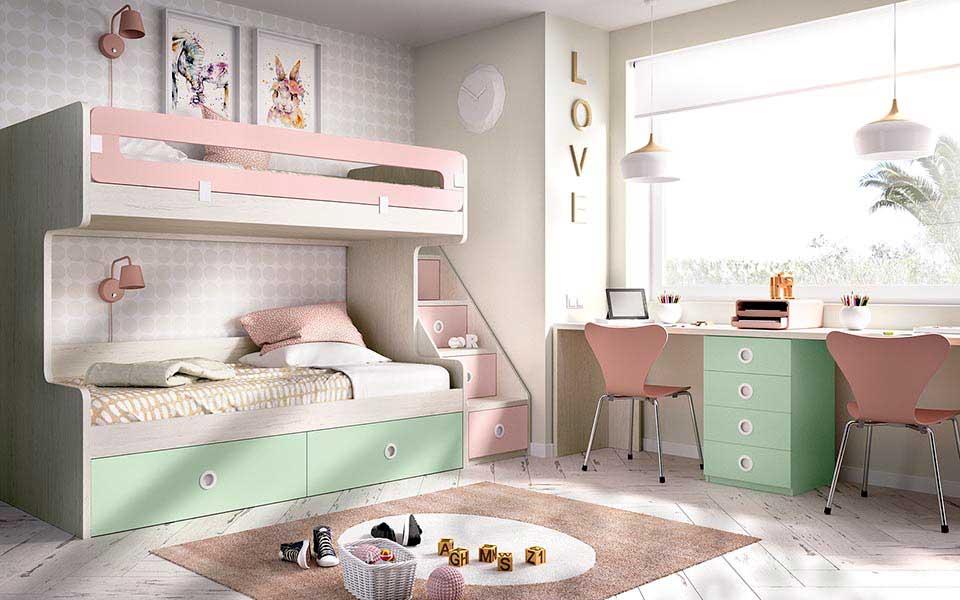 Dormitorios juveniles uni n fabricantes de tresillos - Litera con cajones ...