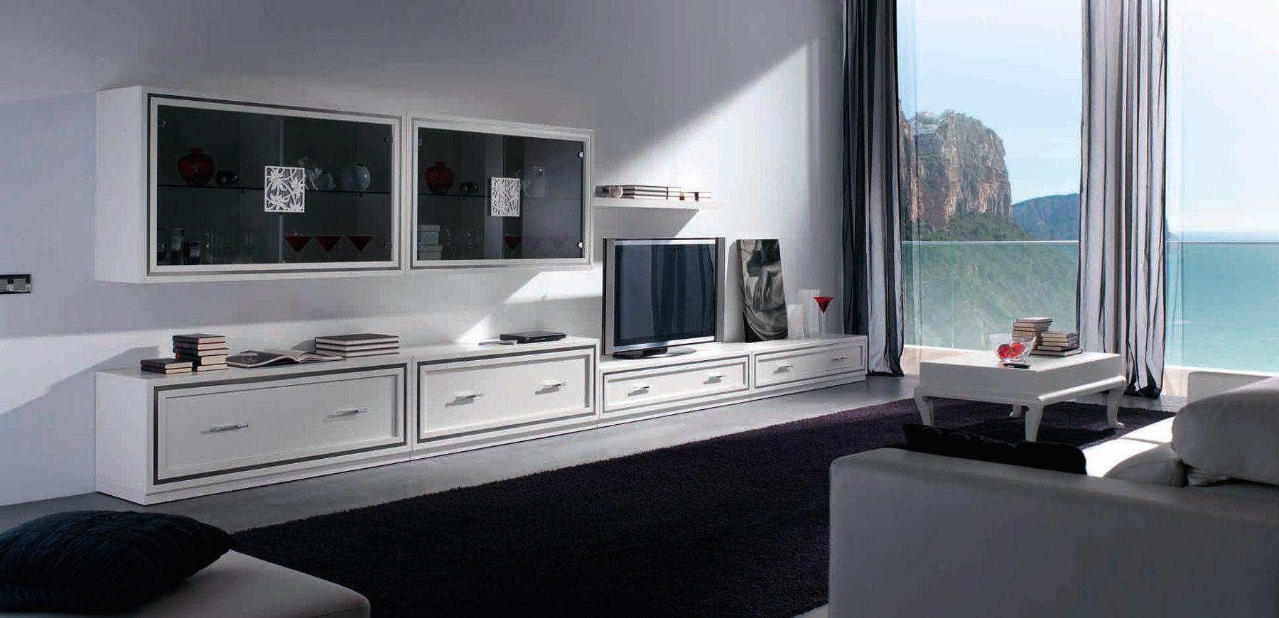Salones cl sicos uni n fabricantes de tresillos for Salon clasico blanco