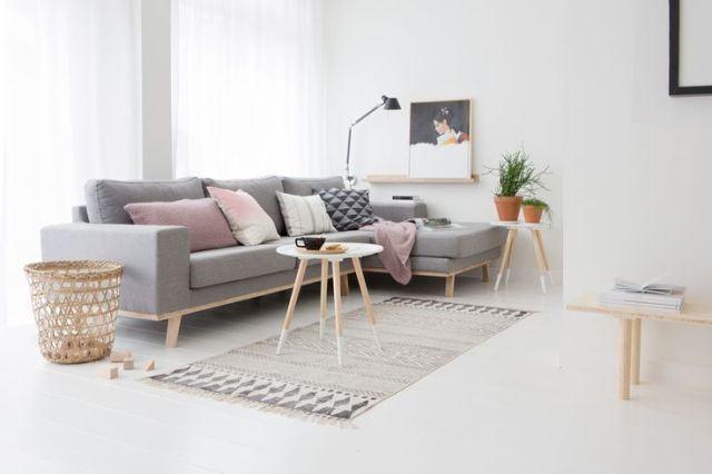 Salón y sofás estilo nórdico